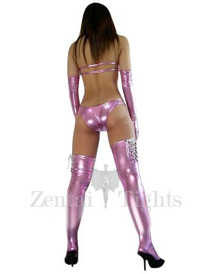 Cool Pink Shiny Metallic Sexy Costume