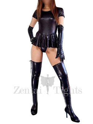 Ideal Black Short Sleeves Shiny Metallic Sexy Dress