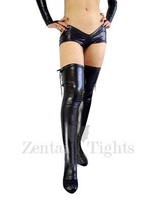 Black Shiny Metallic Sexy Bottom