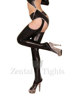 Black Shiny Metallic Sexy Bumbum Costume(G-string&Bumbum Trousers)