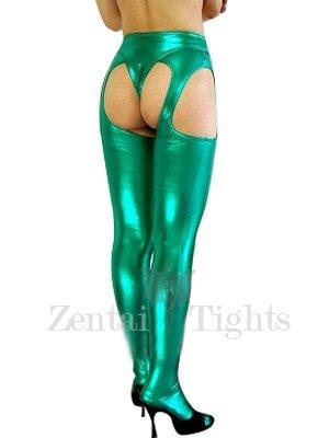Green Shiny Metallic Sexy Bumbum Costume(G-String&Bumbum Trousers)