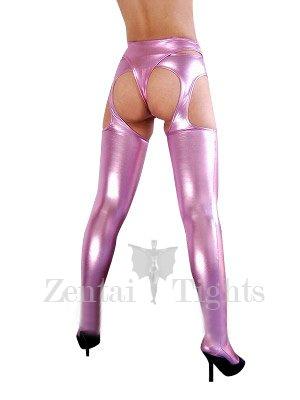 Pink Shiny Metallic Sexy Bumbum Costume(G-string&Bumbum Trousers)