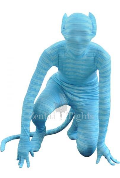 Animal Style Blue Lycra Spandex Morph Suit Zentai Suit