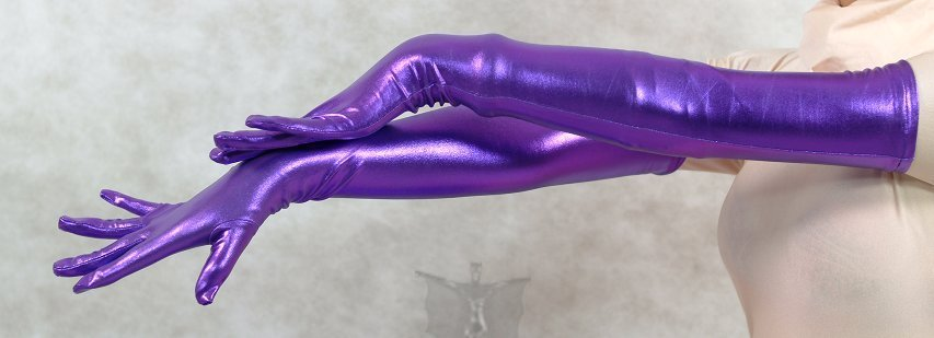 ZENTAI Purple Shiny Metallic Gloves