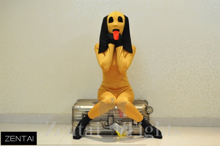 Lycra Tights Yellow Dog Models Full Body Morph Suit Zentai Tights with Morph Suit Zentai Suit Morph Costume Suits