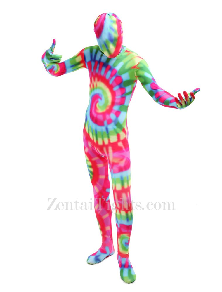 Adult Colorful Full Body Halloween Spandex Holiday Unisex Cosplay Zentai Suit