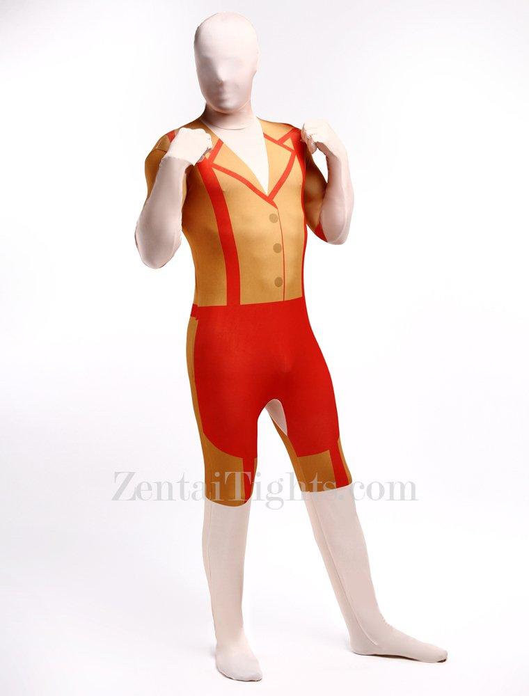 Orange Morph Suits Full Body Halloween Spandex Holiday Unisex Cosplay Zentai Suit